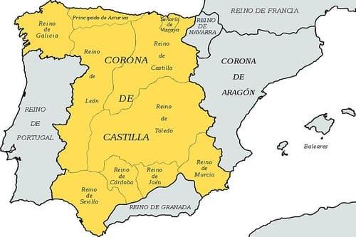 Карта средневековой Испании XV век