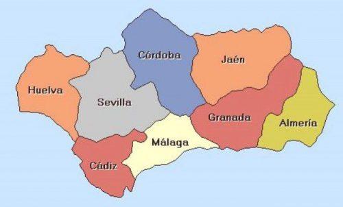 Политисевкая карта Андалусия