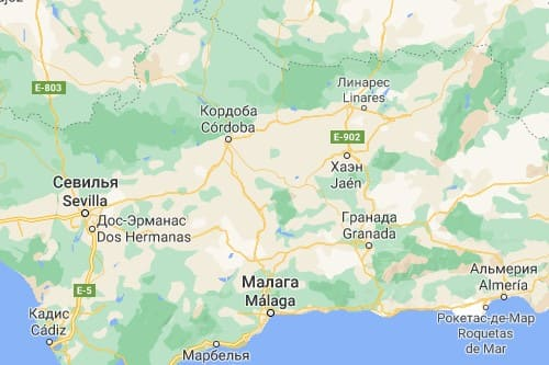 Кордоба история Кордовы Испания карта