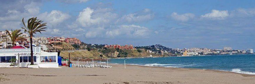 Испания пляжи курорта Бенальмадена Коста дель Соль
