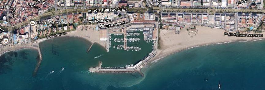Спортивный рыбацкий порт Бахадилья Марбелья Испания