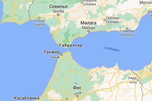 Танжер Марокко карта