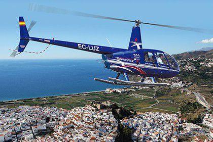 Воздушные вертолетные экскурсии в Андалусии Испании