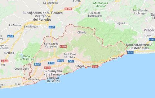 Коста дель Гарраф курортное побережье Испании