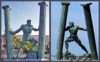 Сеута скульптура Геркулесовы столбы