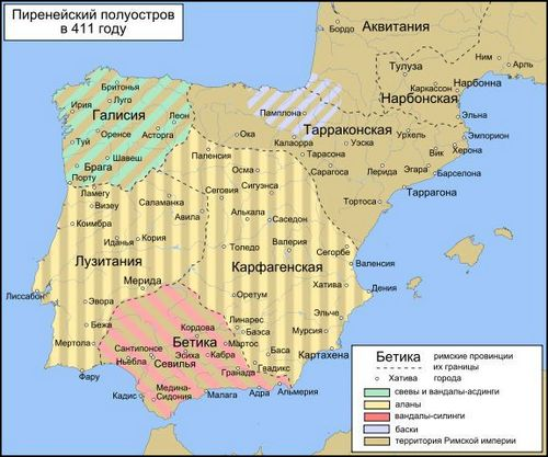 Испания карта 411г