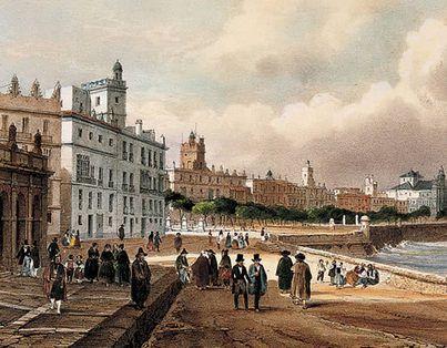 Кадис набережная XIX века
