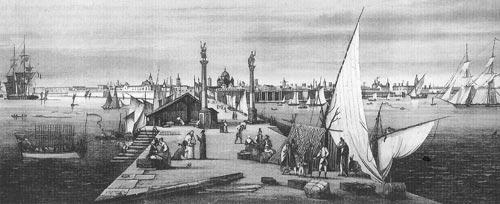 Кадис порт Кадиса XVIII век
