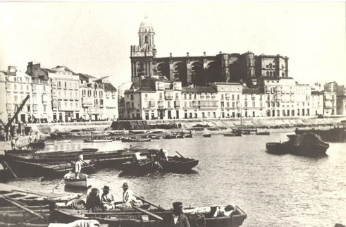 Порт Малаги 1874 год