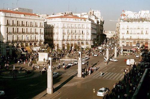 Площадь Ворота Солнца Мадрид 2005 год