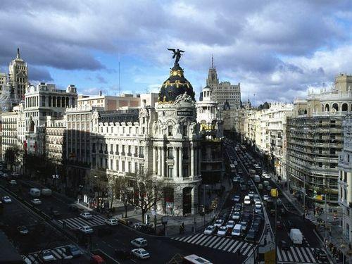 Улица Гран Виа Мадрид