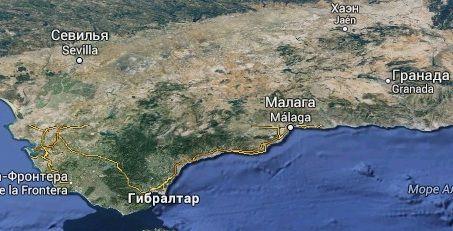 Андалусия рельеф
