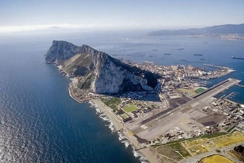 Гибралтар вид сверху